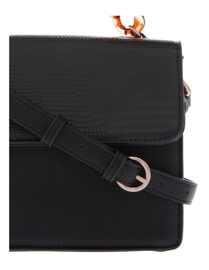 Marnie Black Flap-Over Crossbody Bag image 3