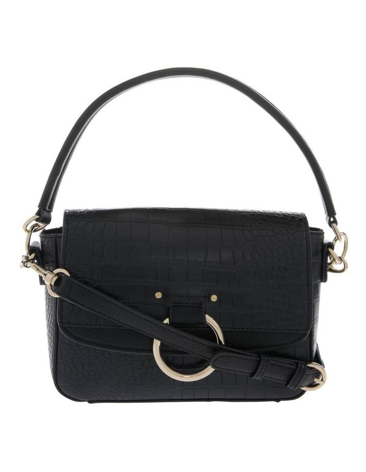 Aminah Black Crossbody Bag With Shoulder Strap image 1