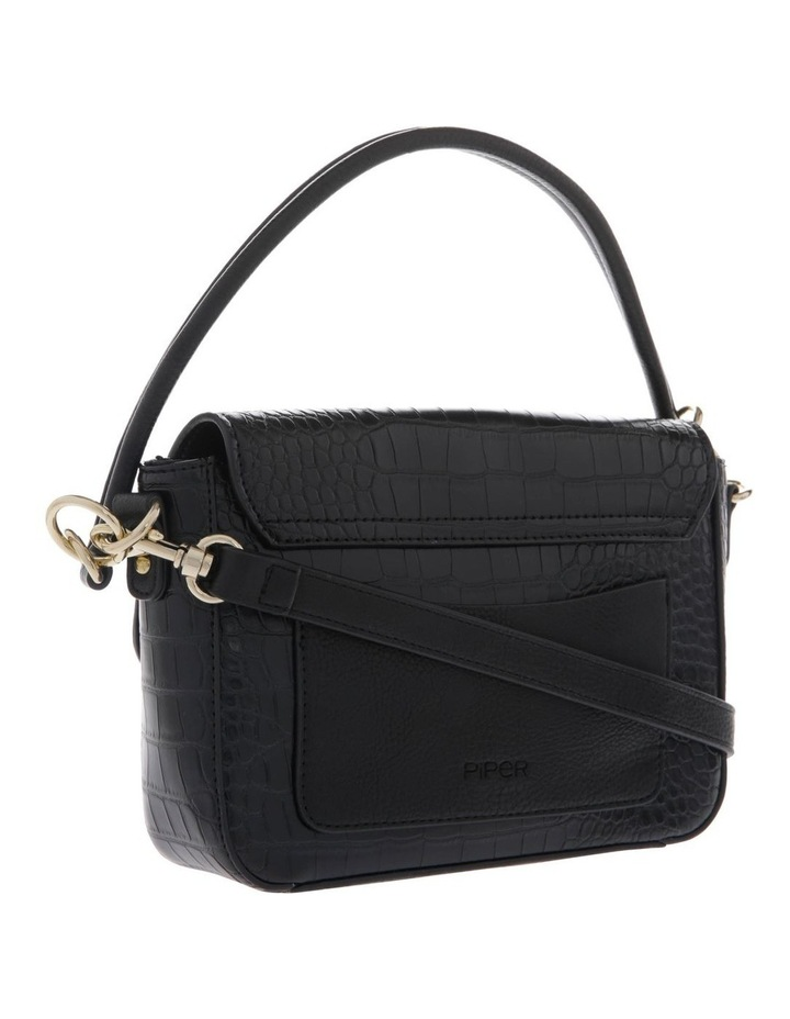 Aminah Black Crossbody Bag With Shoulder Strap image 2