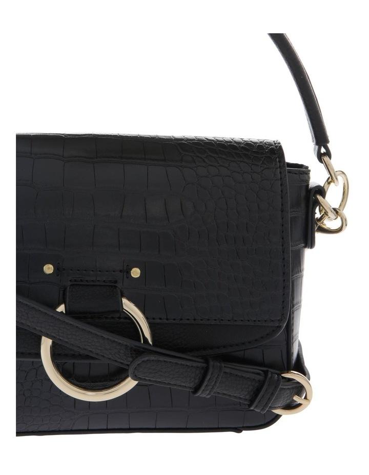 Aminah Black Crossbody Bag With Shoulder Strap image 3