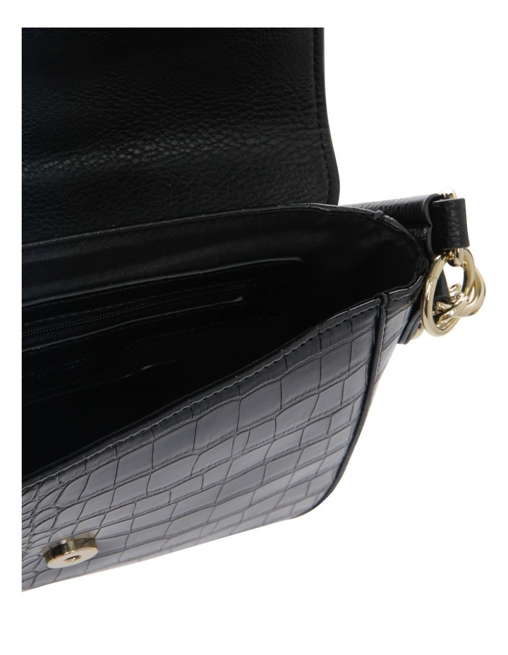 Aminah Black Crossbody Bag With Shoulder Strap image 4