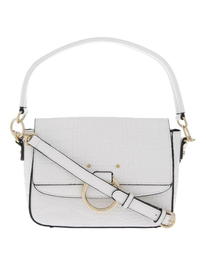 Aminah White Crossbody Bag With Shoulder Strap image 1