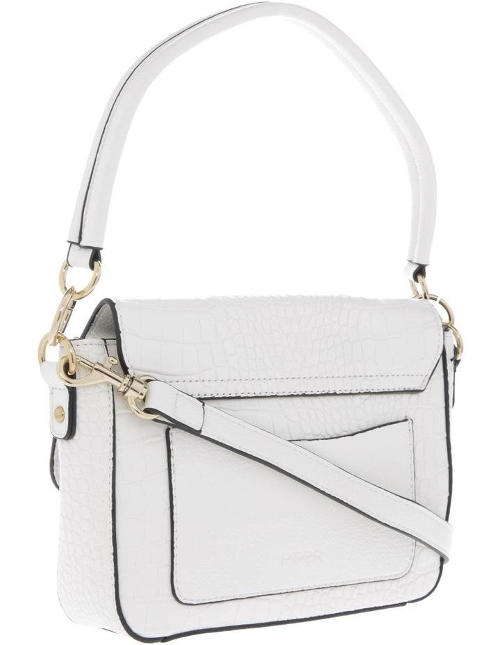 Aminah White Crossbody Bag With Shoulder Strap image 2