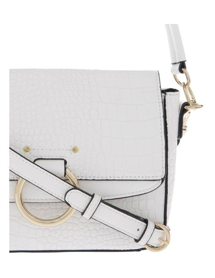 Aminah White Crossbody Bag With Shoulder Strap image 3