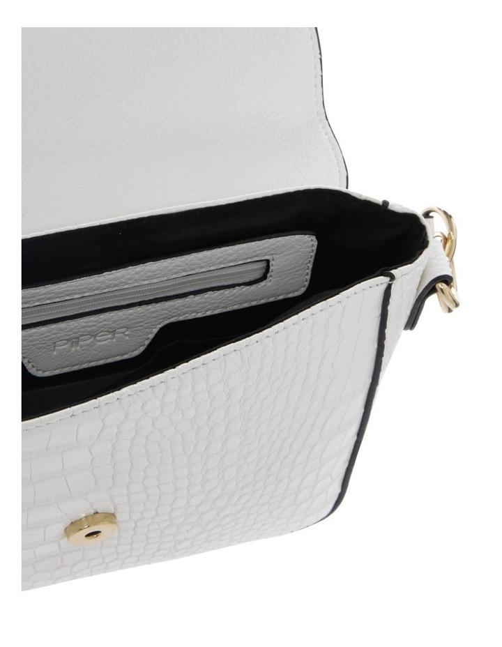 Aminah White Crossbody Bag With Shoulder Strap image 4