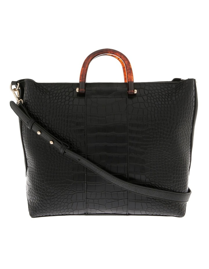 Lucy Top Handle Black Tote Bag image 1