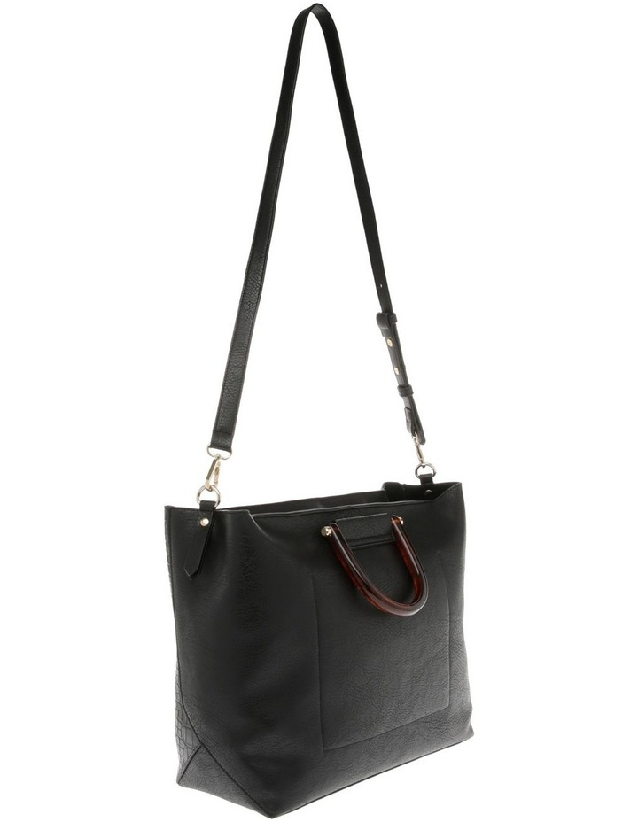Lucy Top Handle Black Tote Bag image 2