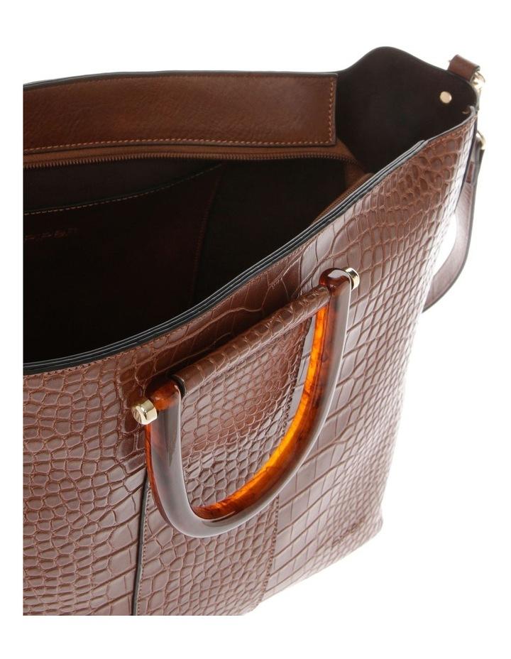 Lucy Top Handle Tan Tote Bag image 4