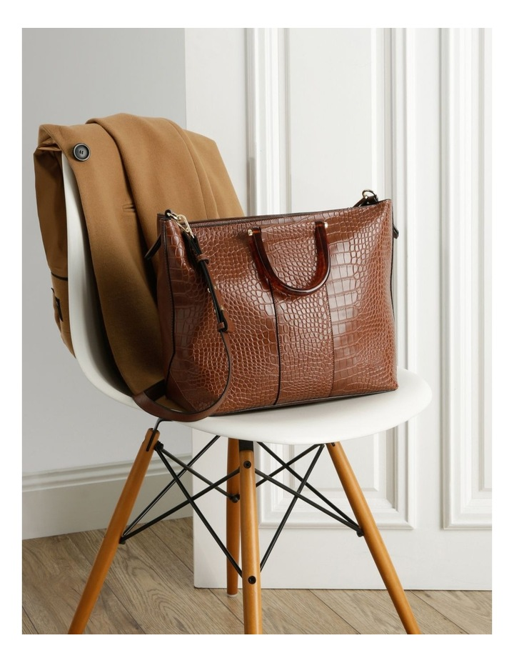 Lucy Top Handle Tan Tote Bag image 5