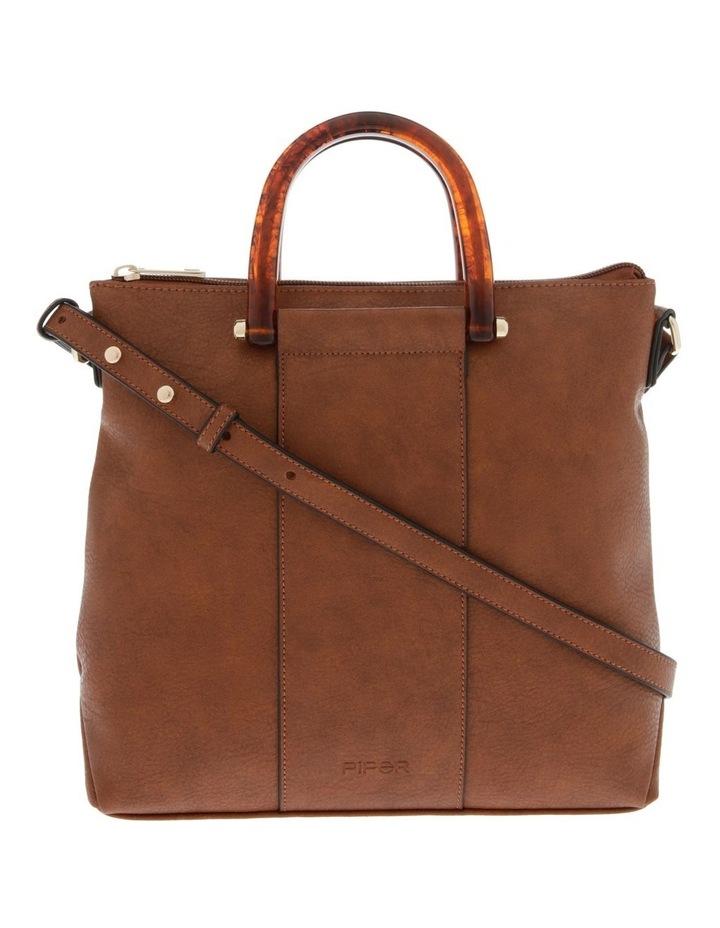 Lucy Top Handle Tan Crossbody Bag image 1
