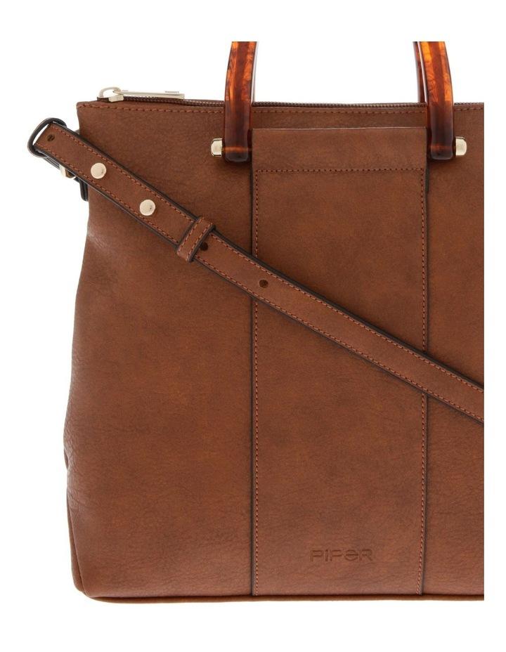 Lucy Top Handle Tan Crossbody Bag image 3