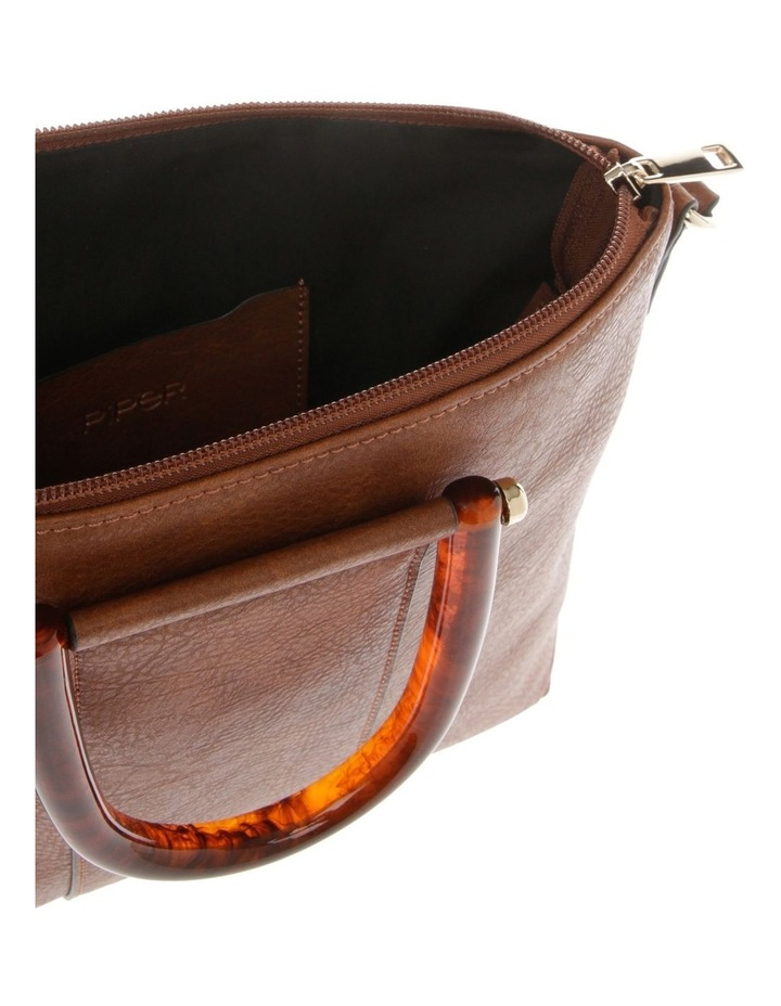 Lucy Top Handle Tan Crossbody Bag image 4