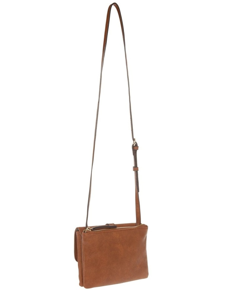 Sara Flap Over Tan Crossbody Bag image 2
