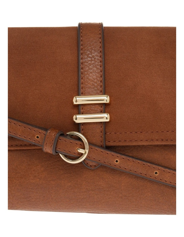 Sara Flap Over Tan Crossbody Bag image 3