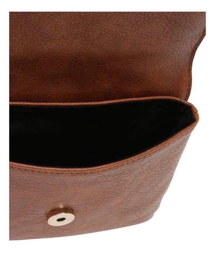 Sara Flap Over Tan Crossbody Bag image 4