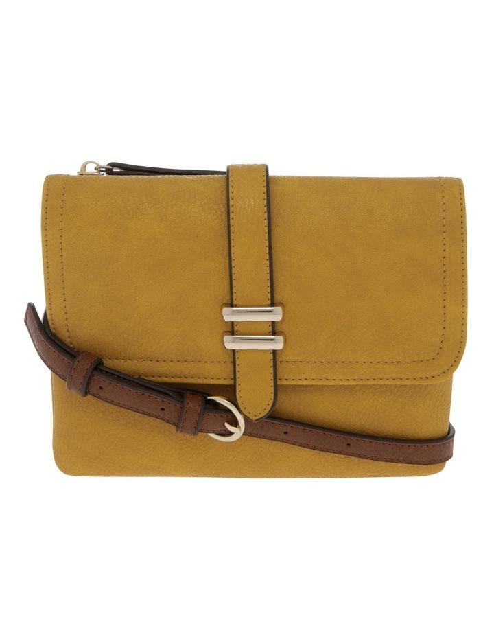 Sara Flap Over Yellow Crossbody Bag image 1
