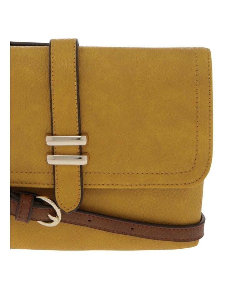 Sara Flap Over Yellow Crossbody Bag image 3