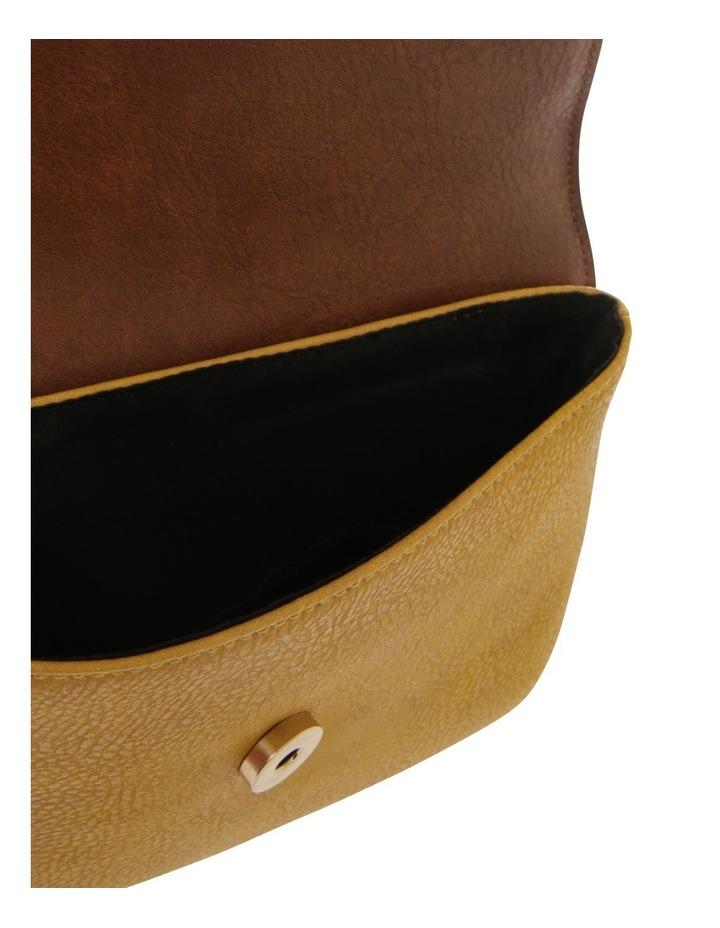 Sara Flap Over Yellow Crossbody Bag image 4