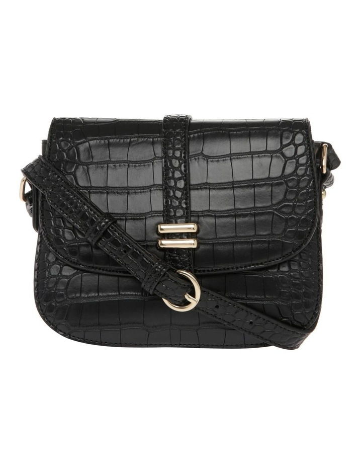 Bronte Flap Over Black Crossbody Bag image 1