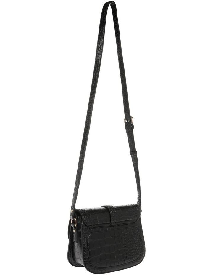 Bronte Flap Over Black Crossbody Bag image 2