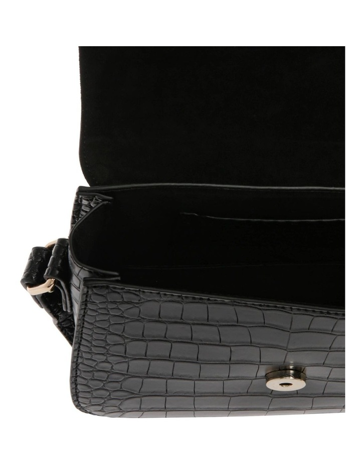 Bronte Flap Over Black Crossbody Bag image 4
