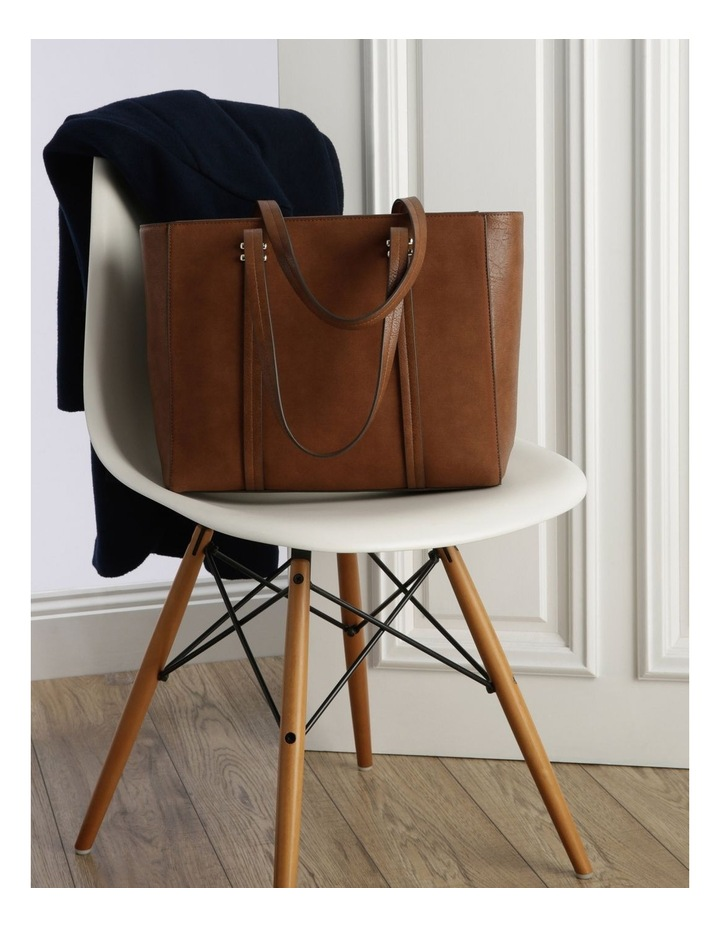 Shannon Double Handle Tan Tote Bag image 5
