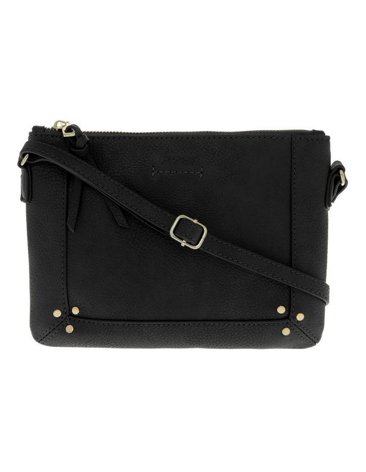 Becca Zip-Top Black Crossbody Bag image 1