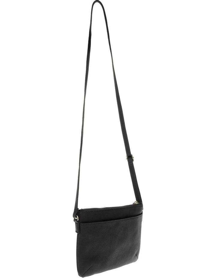 Becca Zip-Top Black Crossbody Bag image 2