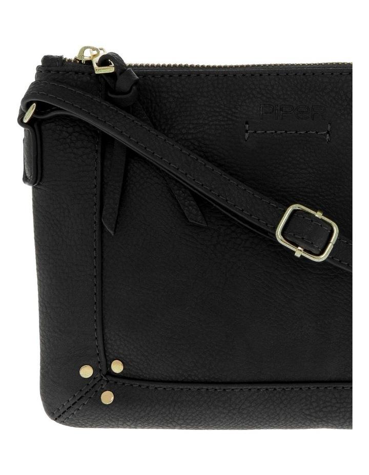 Becca Zip-Top Black Crossbody Bag image 3