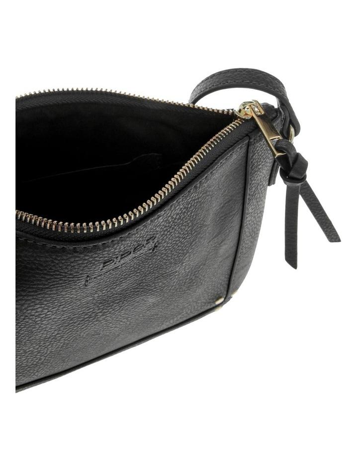 Becca Zip-Top Black Crossbody Bag image 4