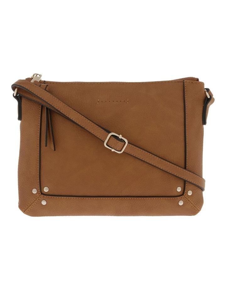 Becca Zip-Top Tan Crossbody Bag image 1
