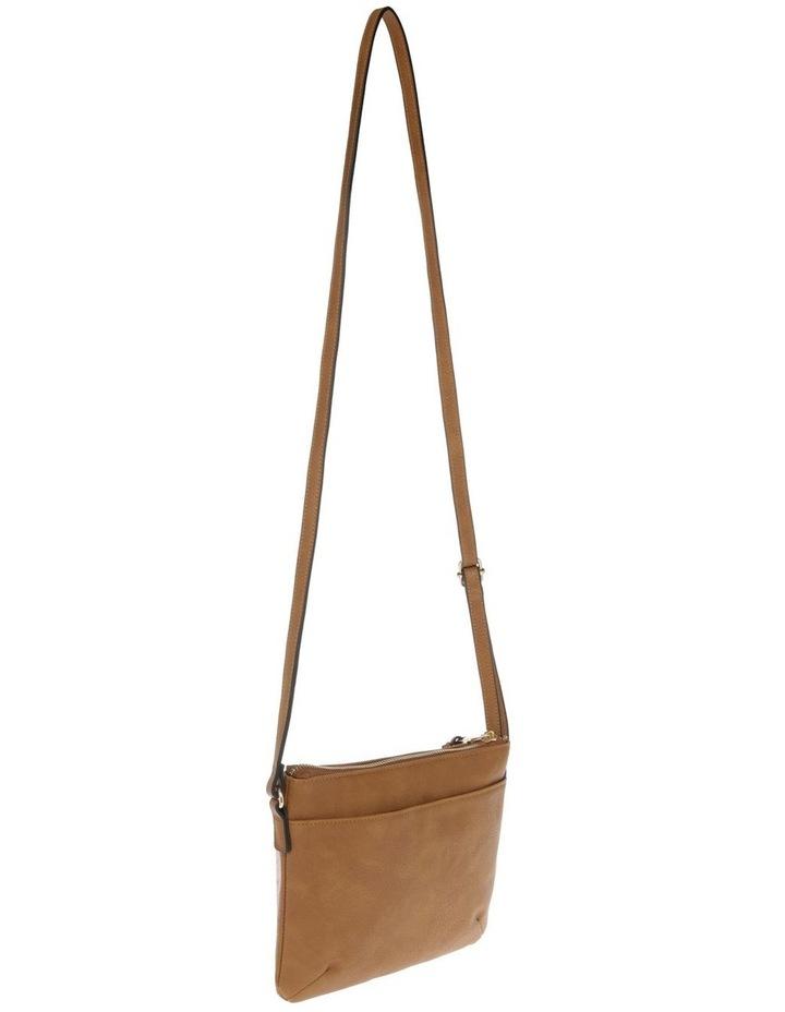 Becca Zip-Top Tan Crossbody Bag image 2