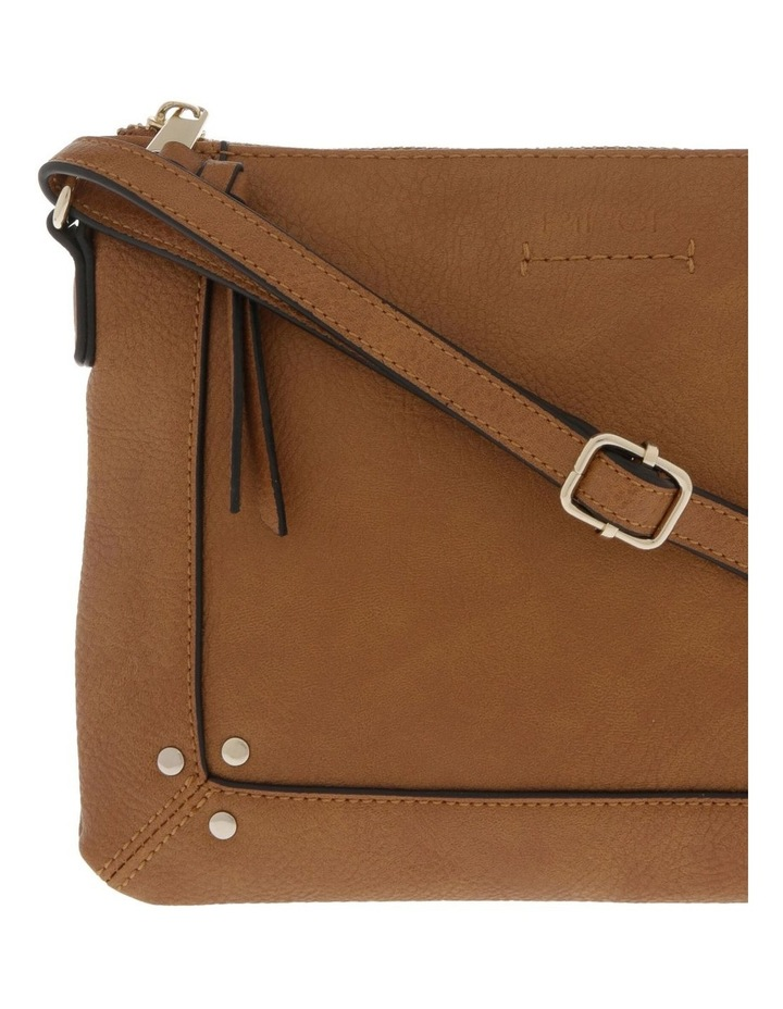 Becca Zip-Top Tan Crossbody Bag image 3