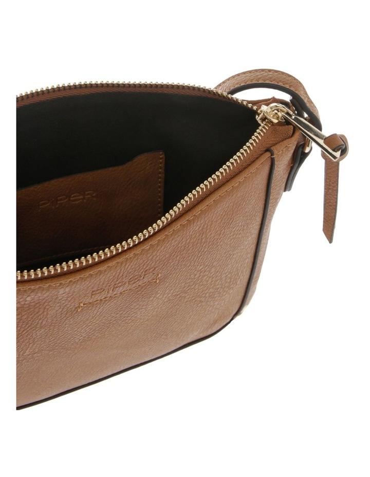 Becca Zip-Top Tan Crossbody Bag image 4