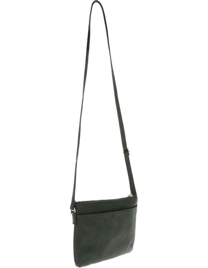Becca Zip-Top Green Crossbody Bag image 2