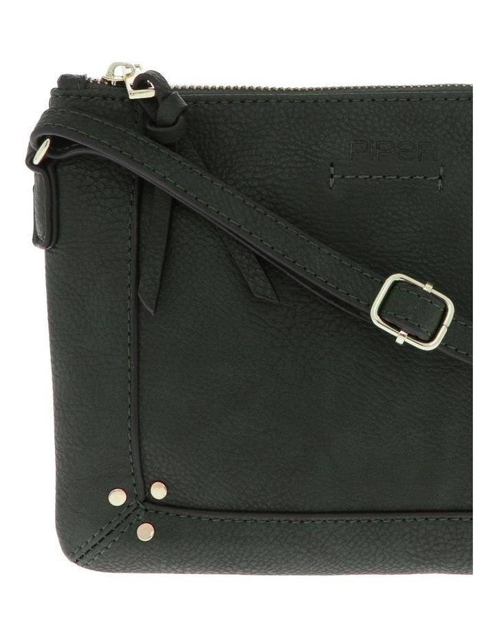 Becca Zip-Top Green Crossbody Bag image 3