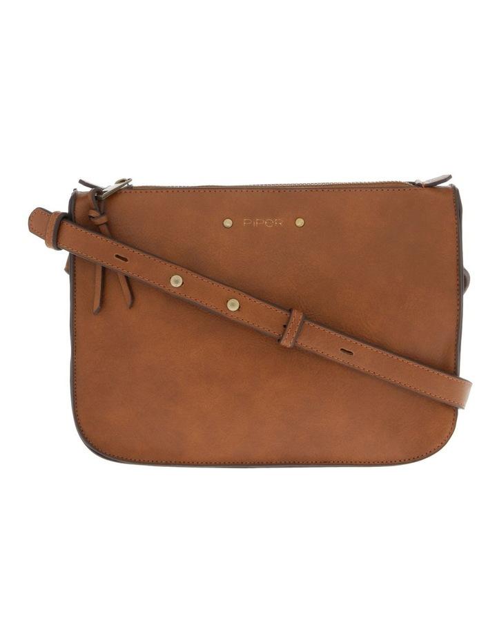 Mabel Zip-Top Tan Crossbody Bag image 1