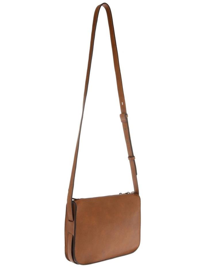 Mabel Zip-Top Tan Crossbody Bag image 2