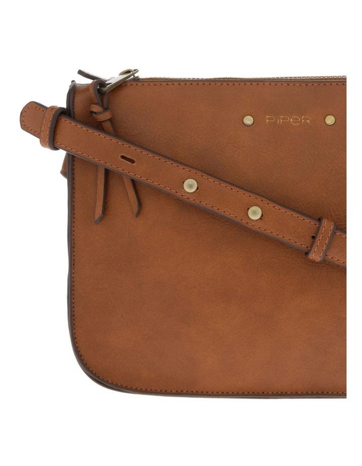 Mabel Zip-Top Tan Crossbody Bag image 3