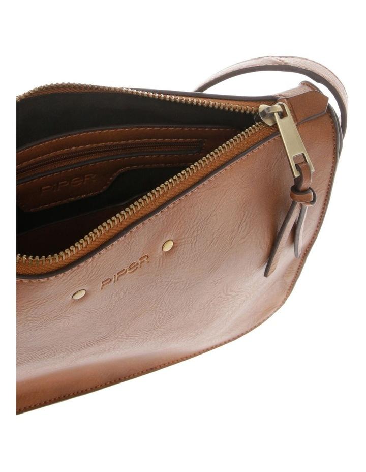 Mabel Zip-Top Tan Crossbody Bag image 4