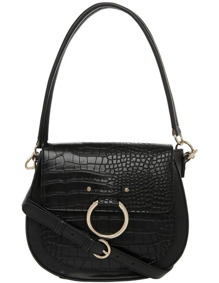 Zoe Flap Over Black Crossbody Bag image 1