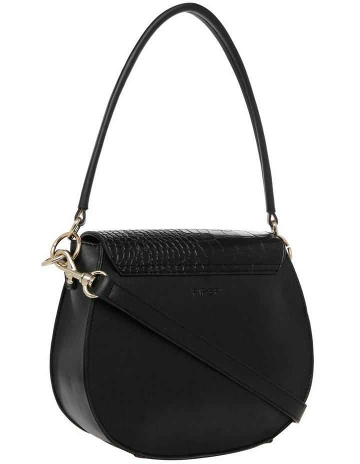 Zoe Flap Over Black Crossbody Bag image 2