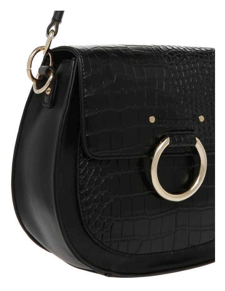 Zoe Flap Over Black Crossbody Bag image 3