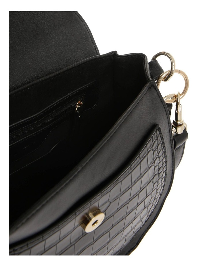 Zoe Flap Over Black Crossbody Bag image 4