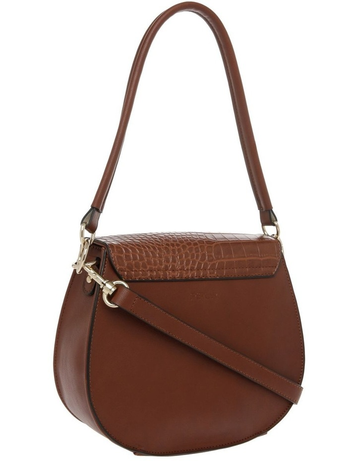Zoe Flap Over Tan Crossbody Bag image 2