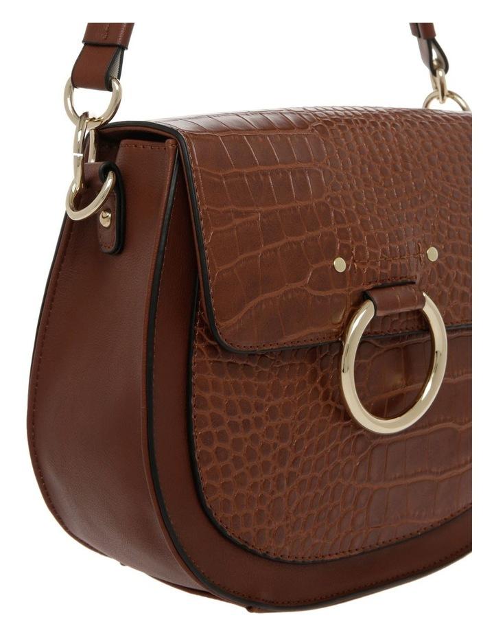 Zoe Flap Over Tan Crossbody Bag image 3