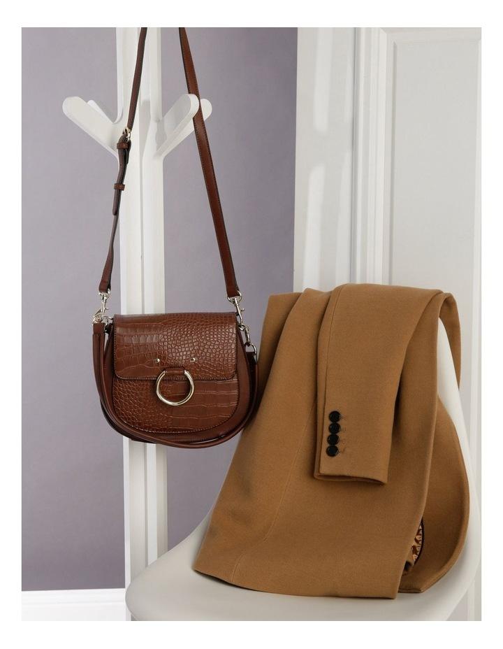 Zoe Flap Over Tan Crossbody Bag image 5