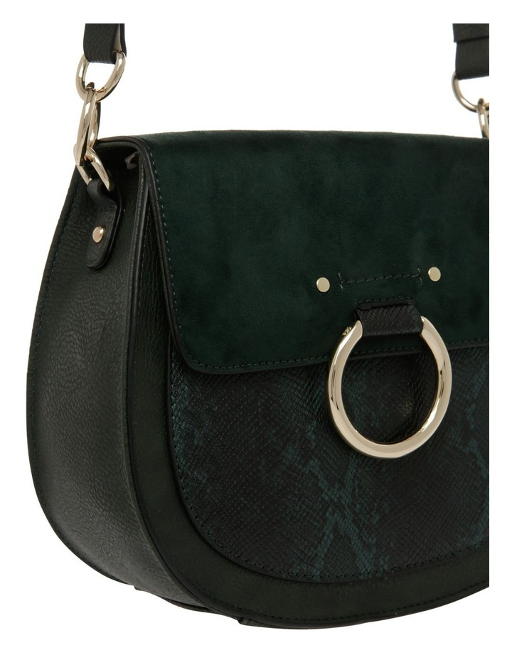 Zoe Flap Over Green Crossbody Bag image 3