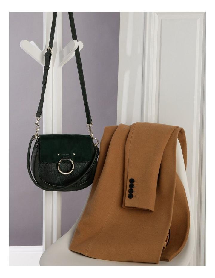 Zoe Flap Over Green Crossbody Bag image 5