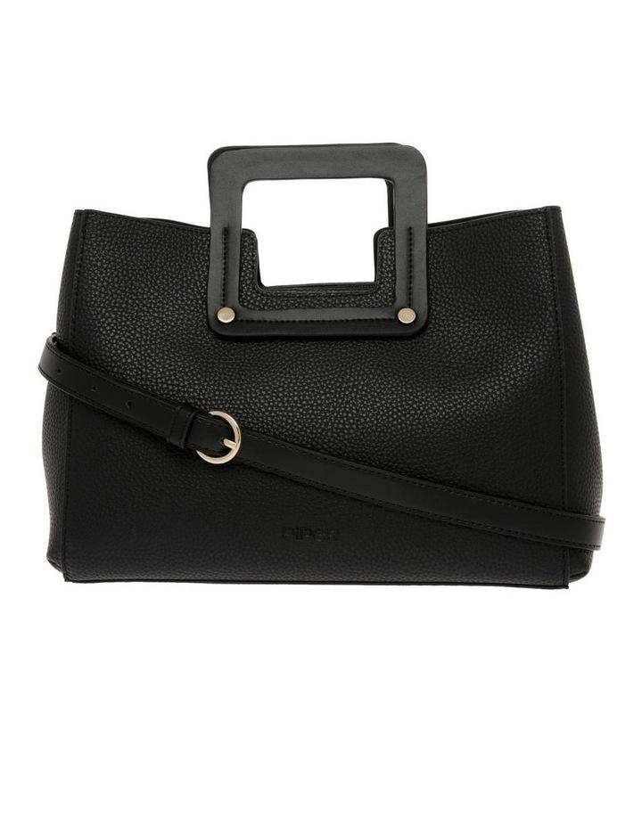 Hannah Top Handle Black Tote Bag image 1